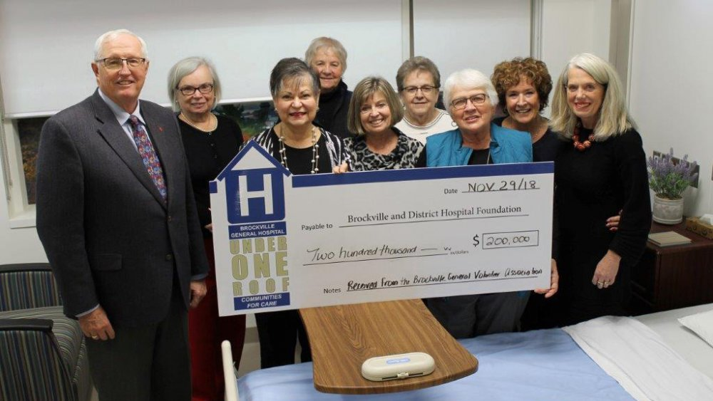 BGVA donation for brockville general hospital redevelopment Project