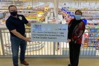 "WITH THE BROCKVILLE REAL CANADIAN SUPERSTORE'S HELP A TOTAL OF $1,969 WAS RAISED DURING THE BROCKVILLE AND DISTRICT HOSPITAL FOUNDATION'S ""SHOW YOUR HEART"" CAMPAIGN"